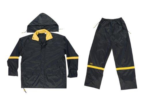 Custom Leathercraft RAIN SUIT NYLON BLACK 3PC MED