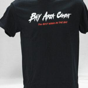 Men's Bay Area Combat White Logo Black T-shirt