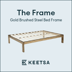 Image for C4 - Simply Beautiful & Durable Gold Brushed Steel Bed Frame