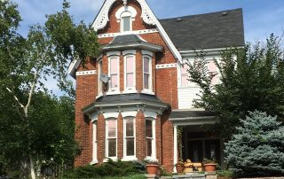 A red-bricked Barrie house.