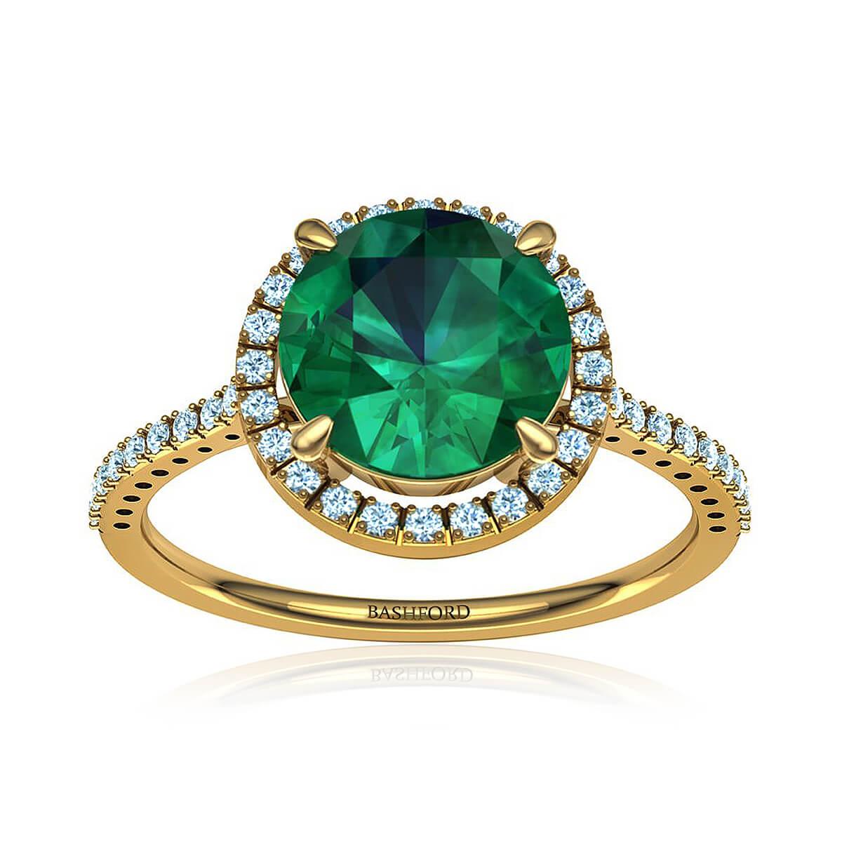 Lolita Emerald Ring (with 3/4 Carat Round Emerald)