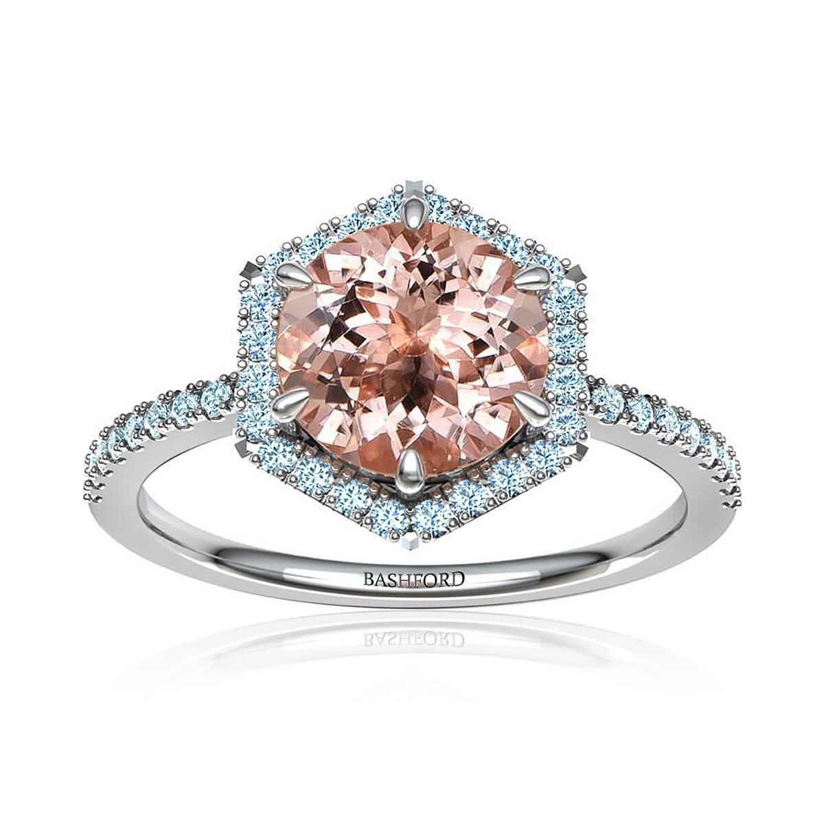 Adarna Morganite Ring (with 1 Carat Round Morganite)