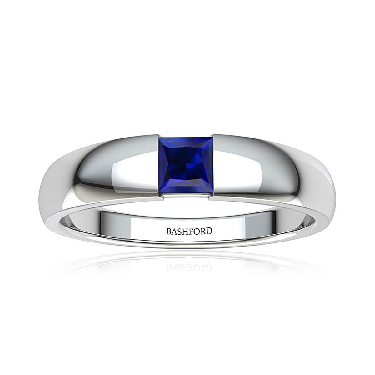 Azure Sapphire Wedding Band (1/2 CT. TW.)