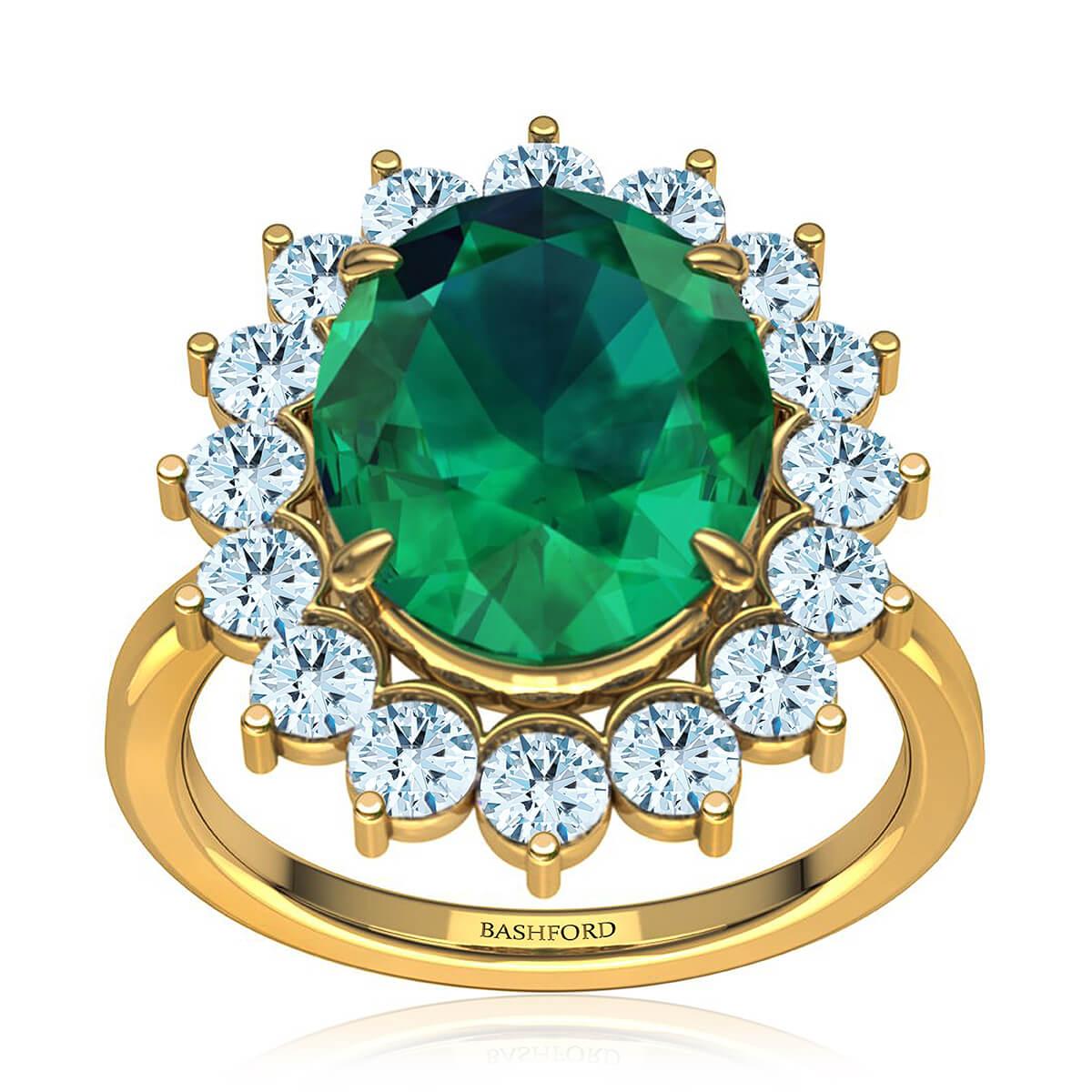 Maribel Emerald Ring (with 1 Carat Oval Emerald)