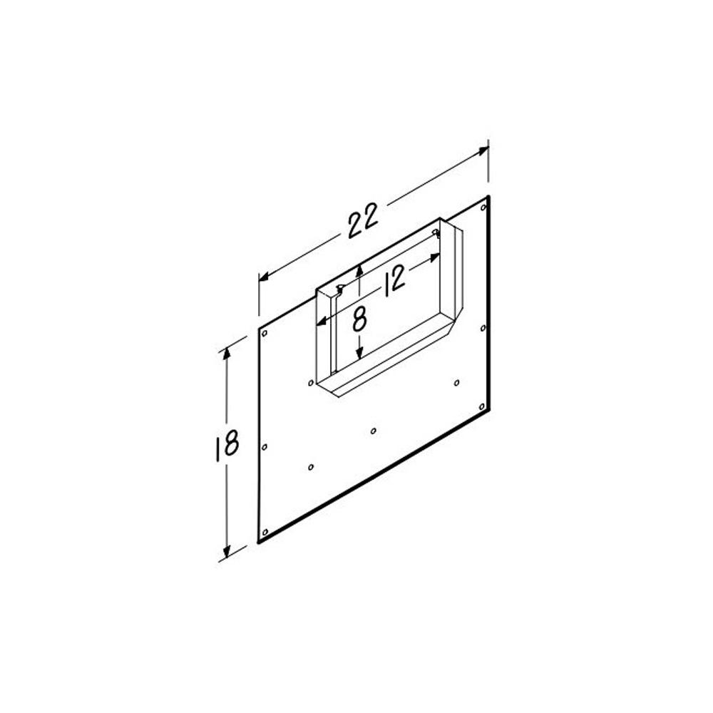 Bath4all Broan Nutone 983l Galvanized Steel 8 Quot X 12