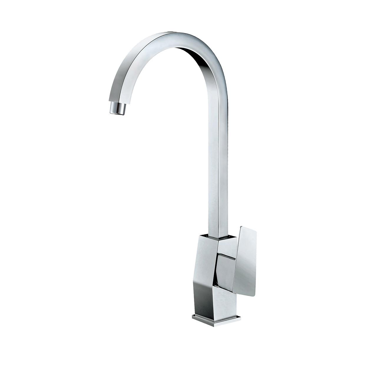 Bath4all Alfi Brand Ab3470 Pc Polished Chrome Gooseneck Single Hole Bathroom Faucet