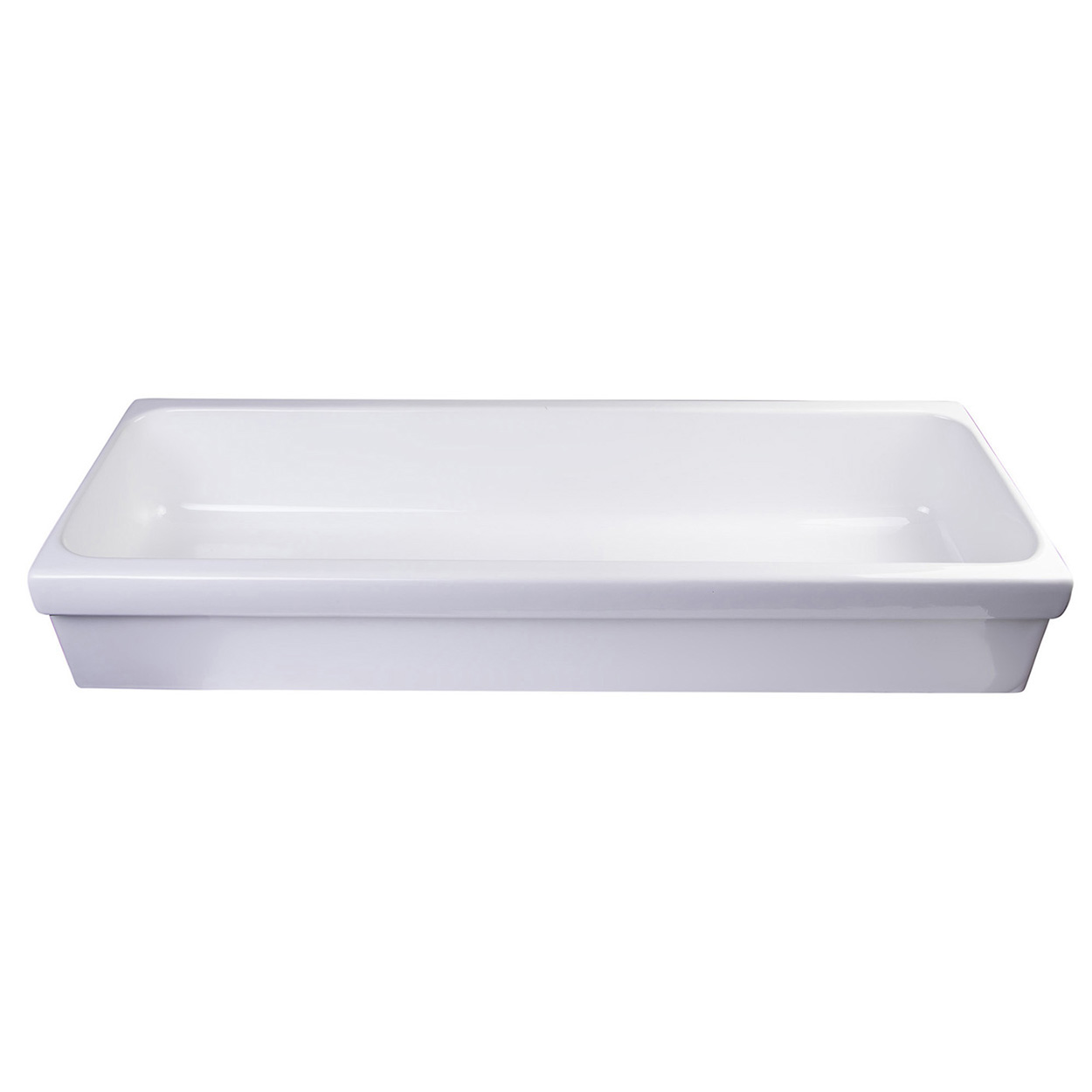 Bath4all Alfi Brand Ab48tr 48 White Above Mount Porcelain Bath Trough Sink