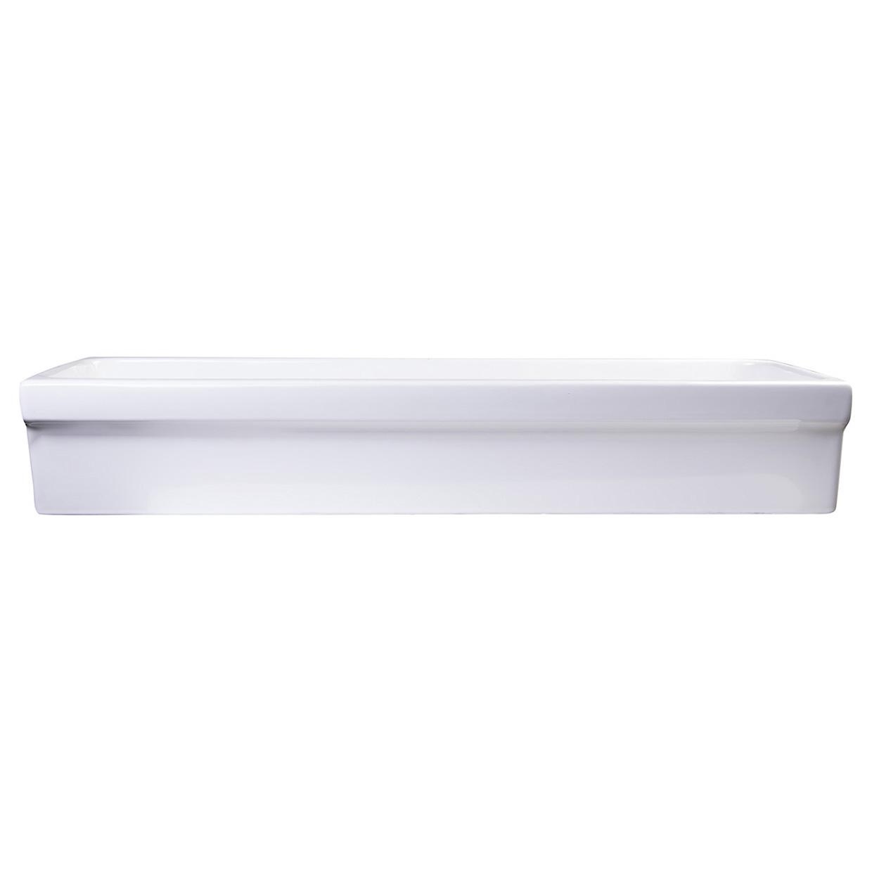Bath4all Alfi Brand Ab48tr 48 White Above Mount Porcelain Bath Trough Sink