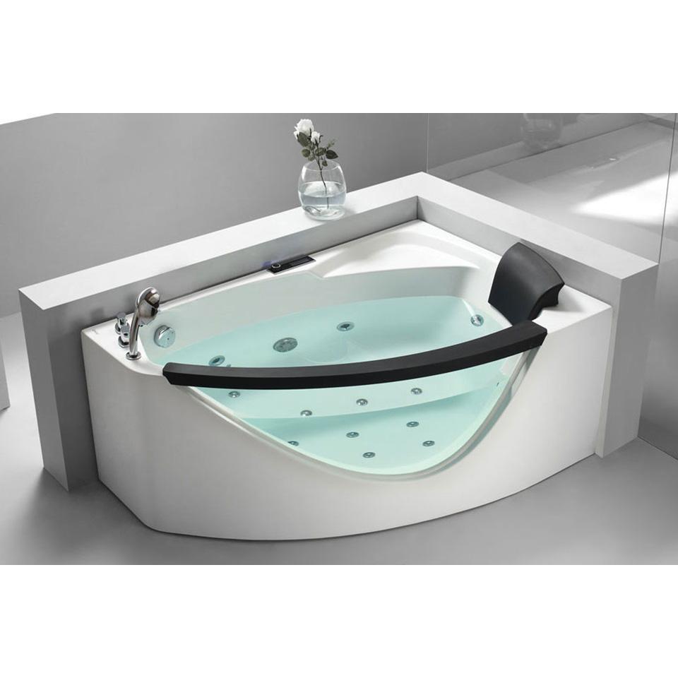 Bath4All - EAGO AM198-L 5\' Left Drain Rounded Clear Modern Corner ...