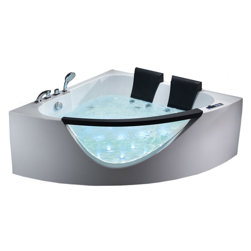 Bath4All - EAGO AM199HO 5\' Rounded Clear Double Seat Corner ...