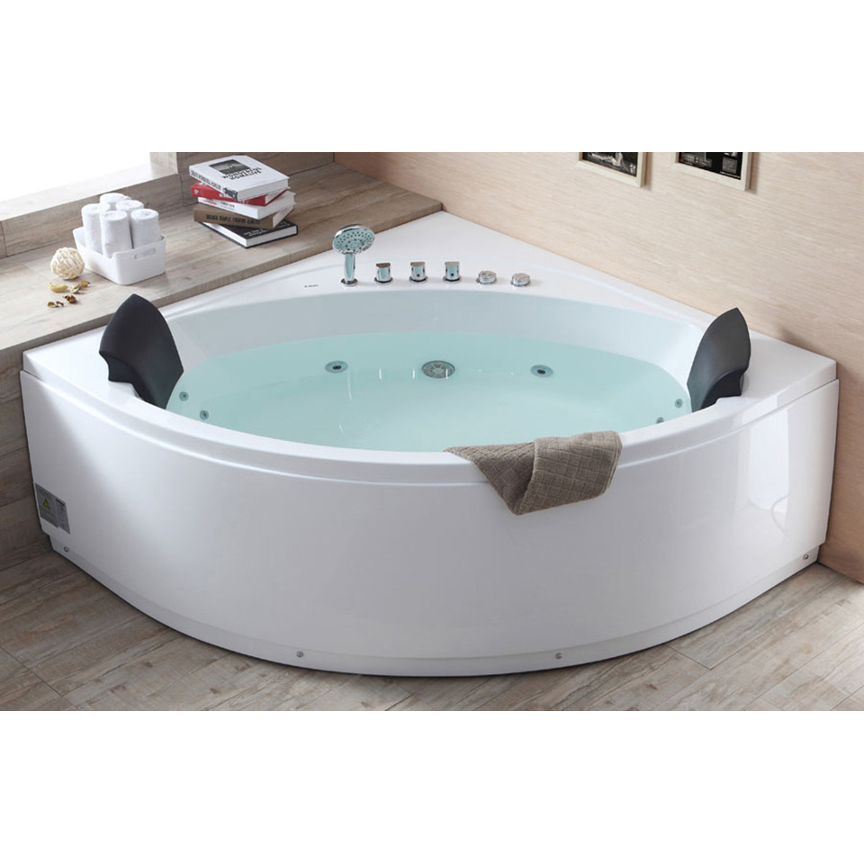 Bath4All - EAGO AM200 5\' Rounded Modern Double Seat Corner Whirlpool ...