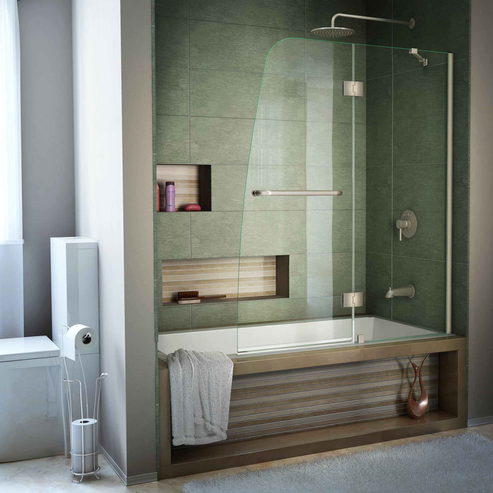 Dreamline Shdr 3148586 04 Aqua 48 X 58 Clear Glass Bathtub Door Ebay