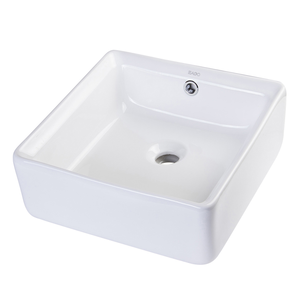 above mount bathroom sinks bath4all eago ba130 15 quot square ceramic above mount 15350