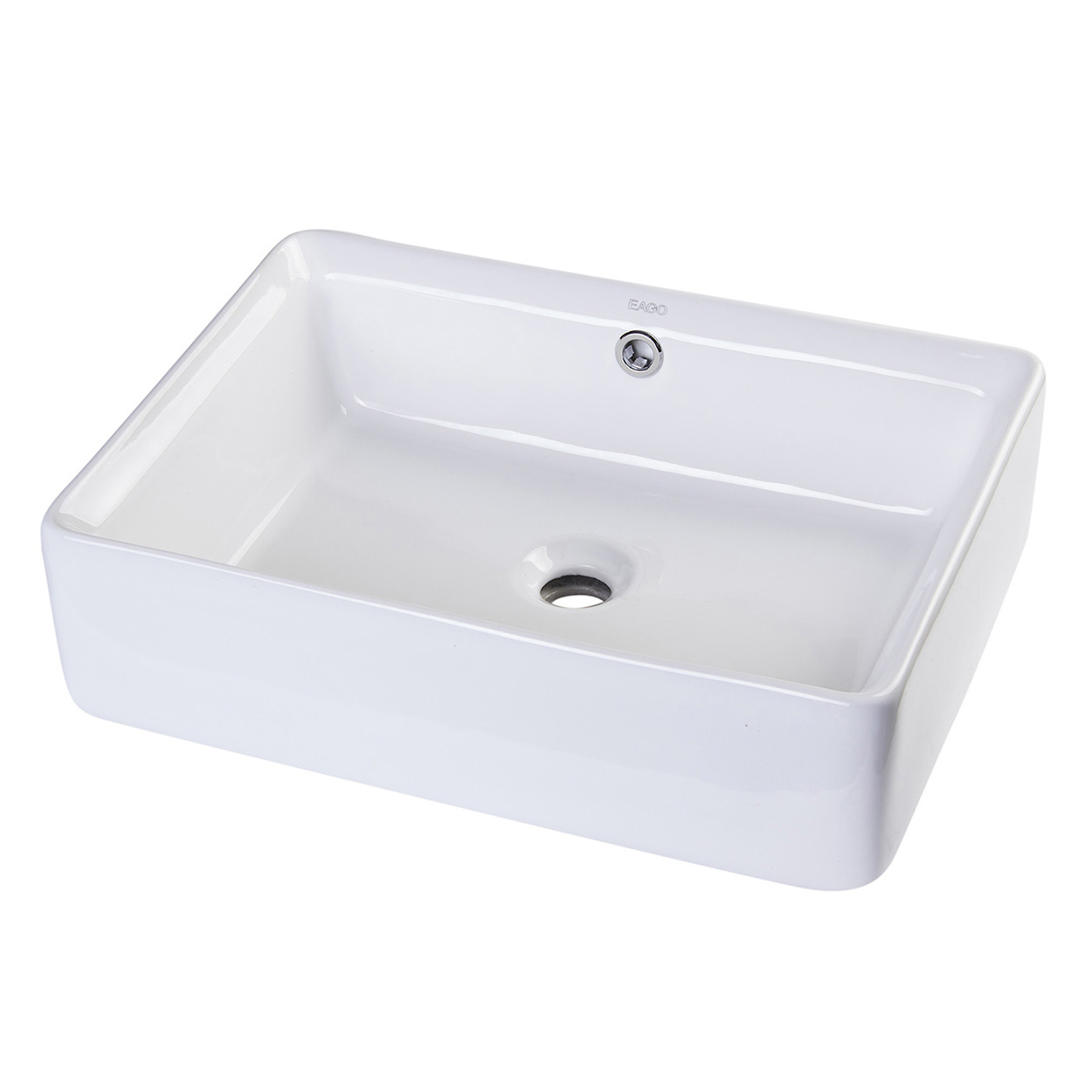 bathroom sinks top mount bath4all eago ba131 20 quot rectangular ceramic above mount 16646