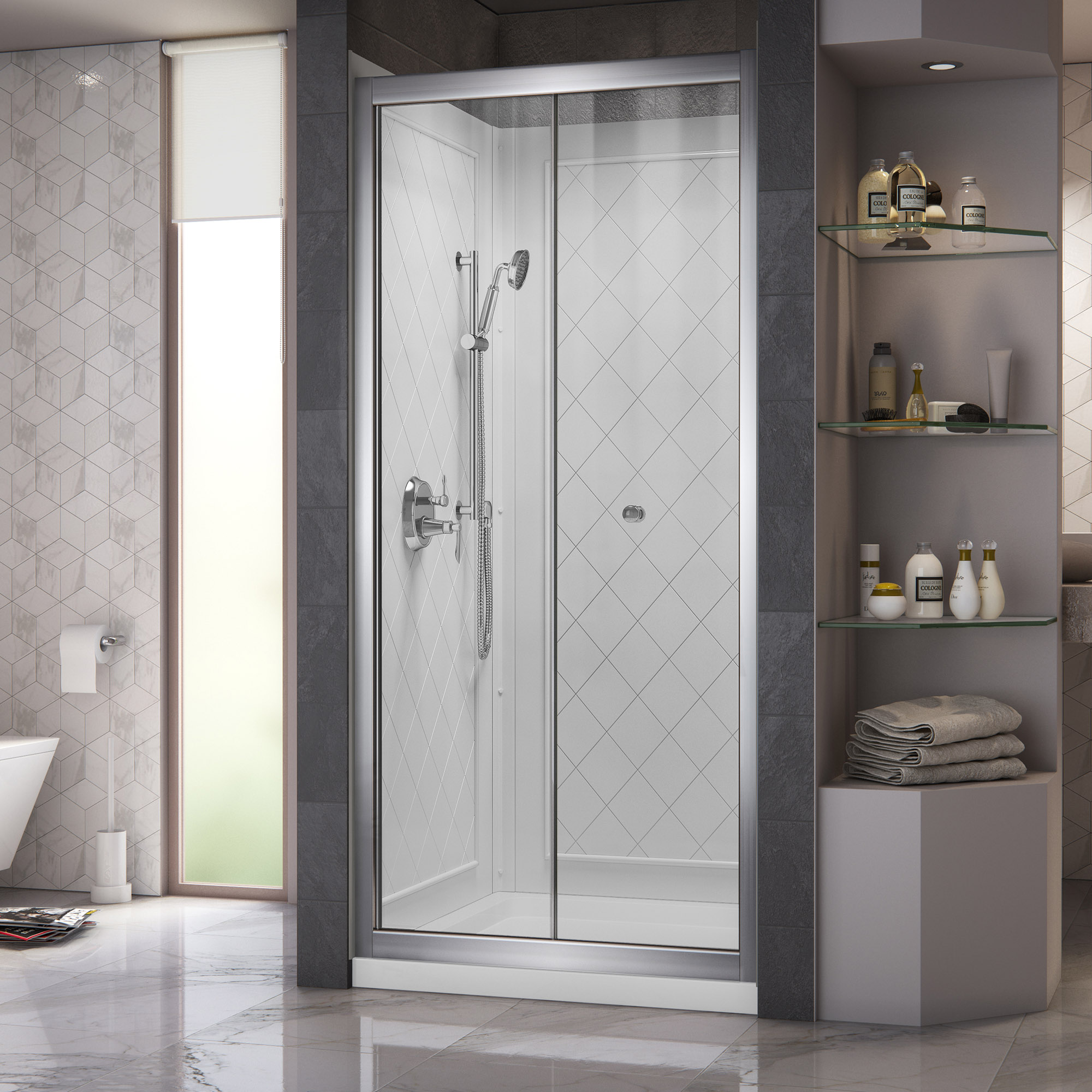 Details About Dreamline Dl 6130c 01cl Butterfly Bi Fold Shower Door