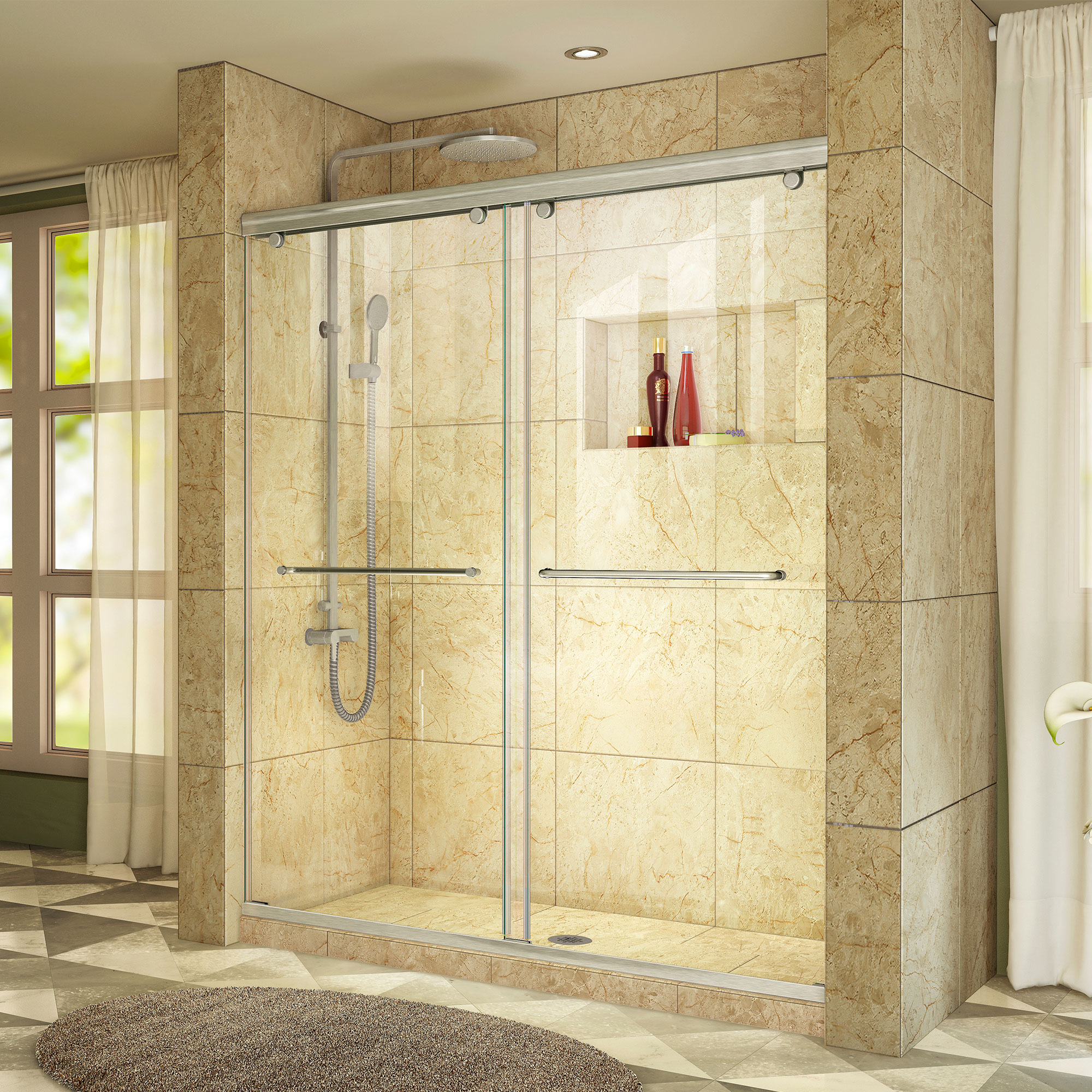 Dreamline Shdr 1360760 04 Charisma 56 60 X 76 Inch Sliding Shower