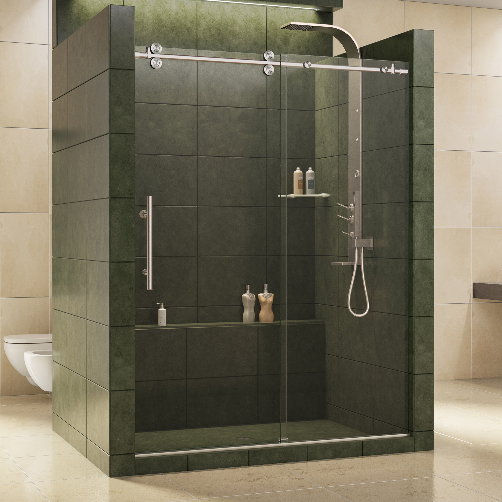 Dreamline Shdr 60607912 07 Enigma 56 To 60 Sliding Shower Door, Clear