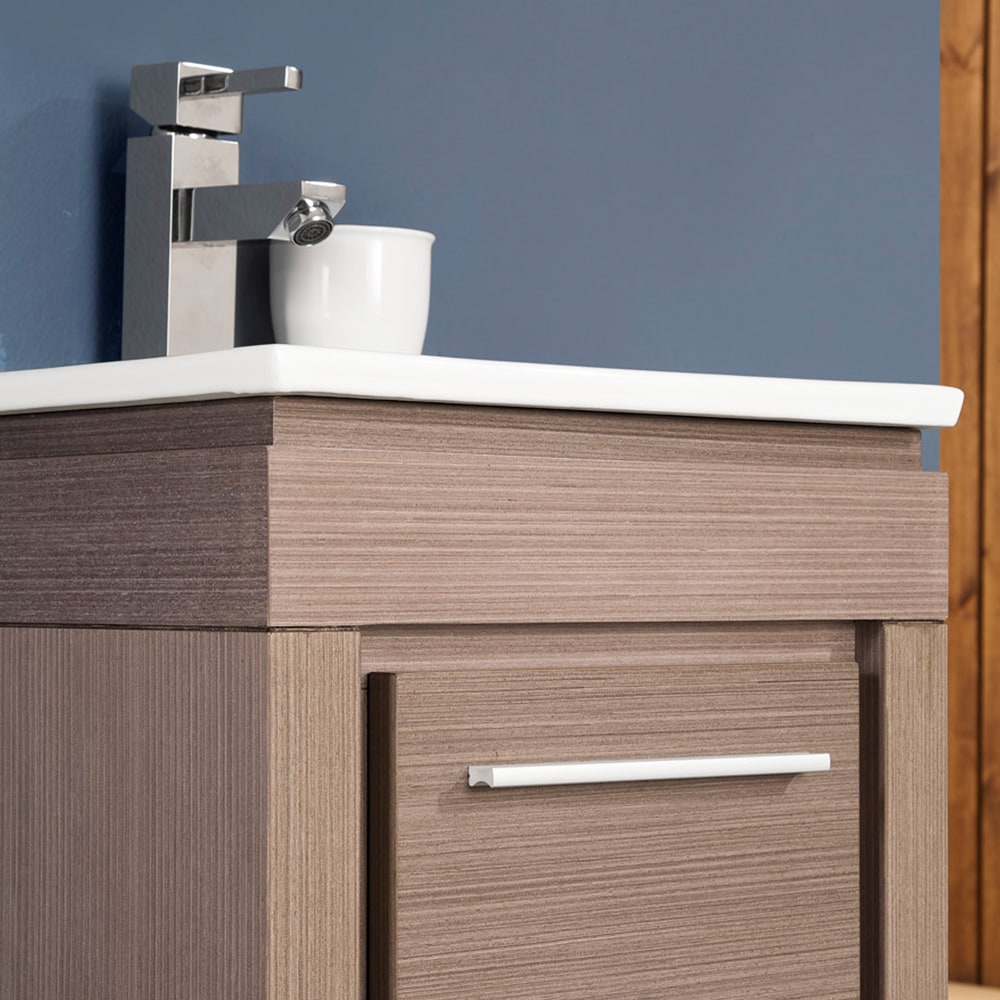 Fresca FVN8118GO Allier 16 Gray Oak Modern Bathroom Vanity With Mirror