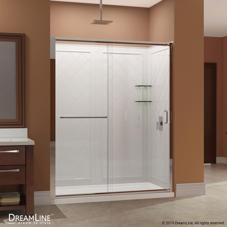DreamLine DL-6116R-04CL Infinity-Z Sliding Shower Door