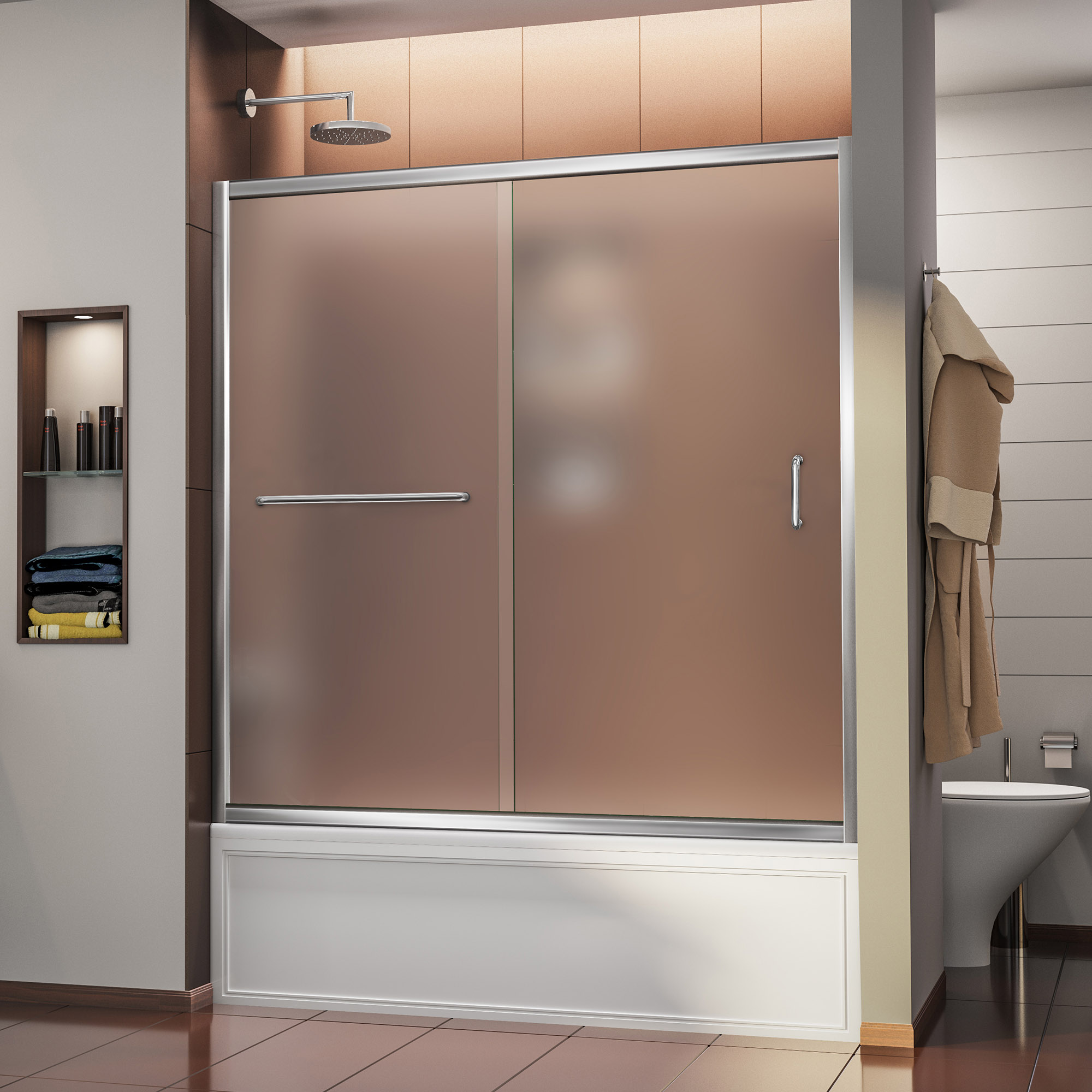Dreamline Infinity Z 56 To 60 Frameless Sliding Tub Door Ebay
