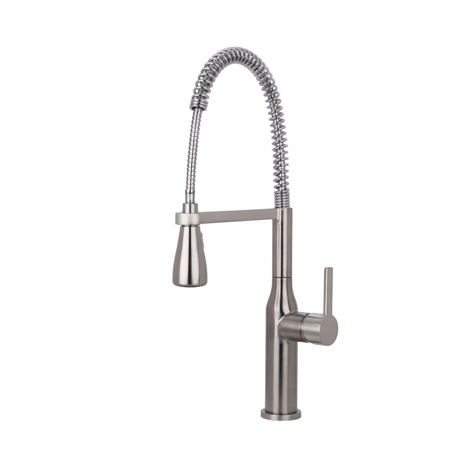 Miseno MNO500BSS Chico Commercial Style Pre Rinse Kitchen Faucet With  Decorative Deck Plate