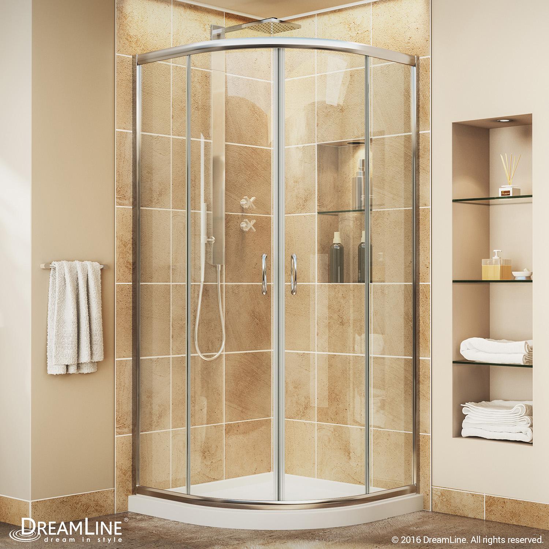 dreamline dl 6701 01cl prime shower enclosure 33x33 quarter shower base ebay. Black Bedroom Furniture Sets. Home Design Ideas