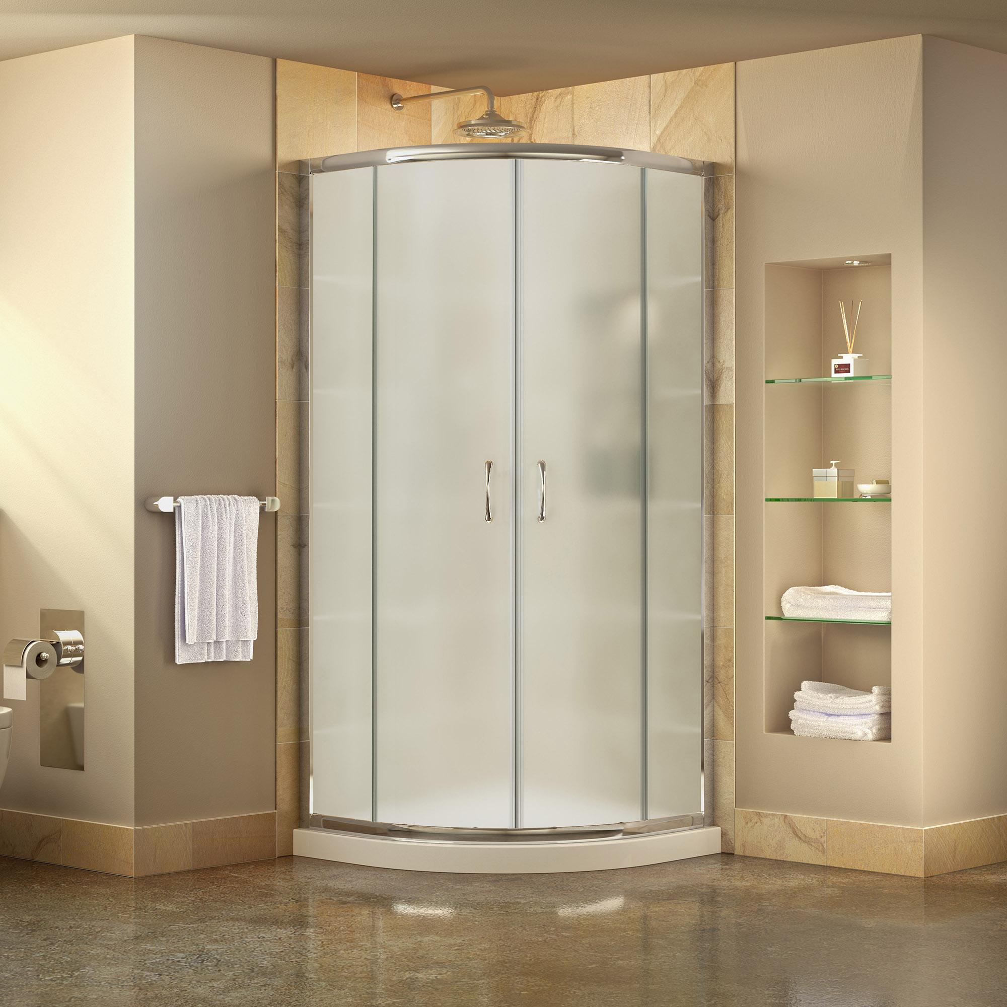 DreamLine DL-6703-01FR Prime Shower Enclosure and SlimLine 38 x 38 ...
