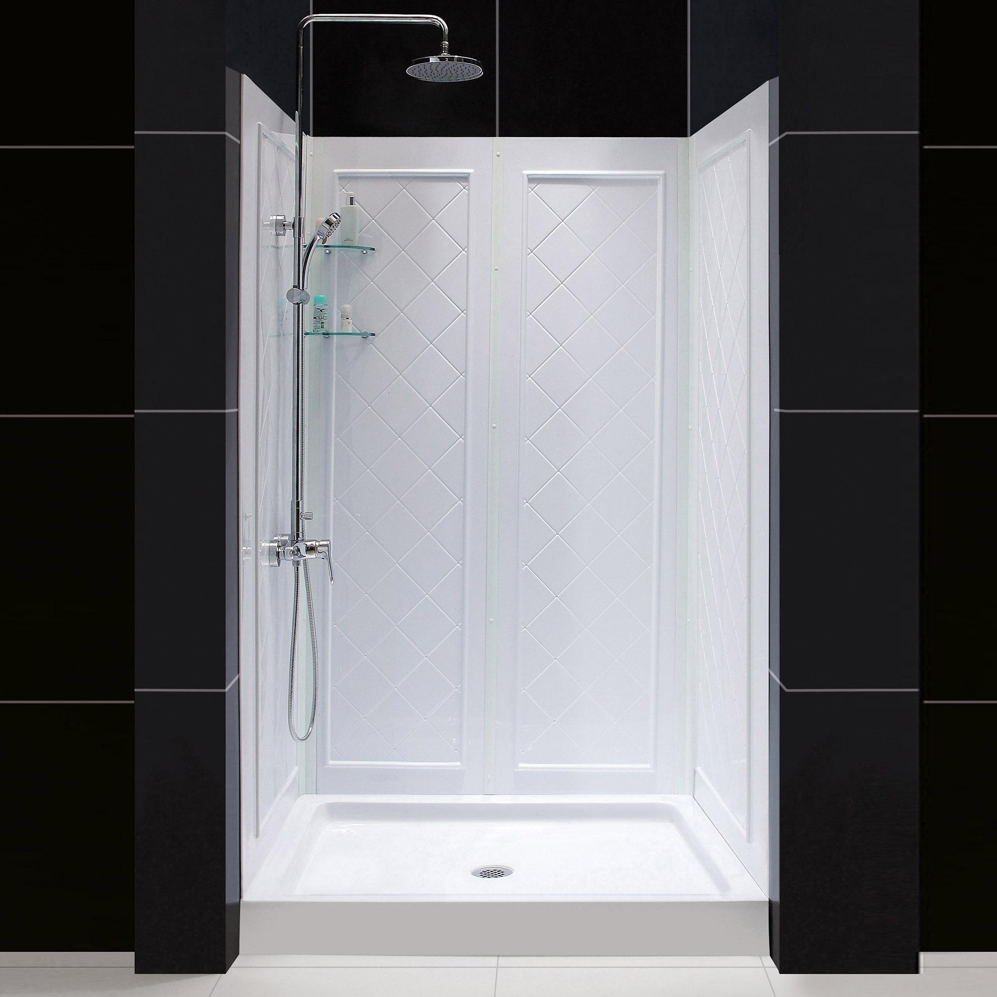 36 X 48 Shower Base.Details About Dreamline Dl 6193c 01 Slimline 36 X 48 Shower Base And Qwall 5 Backwall Kit