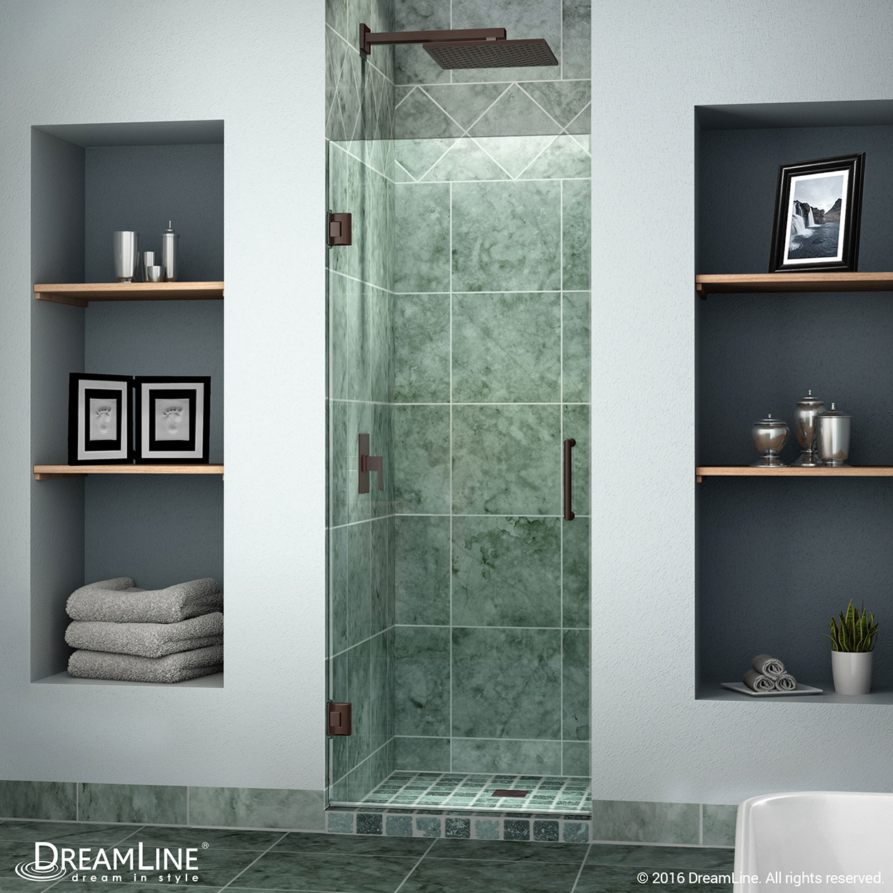 Details About Dreamline Shdr 20247210f 06 Unidoor 24 Frameless Shower Door Oil Rubbed Bronze