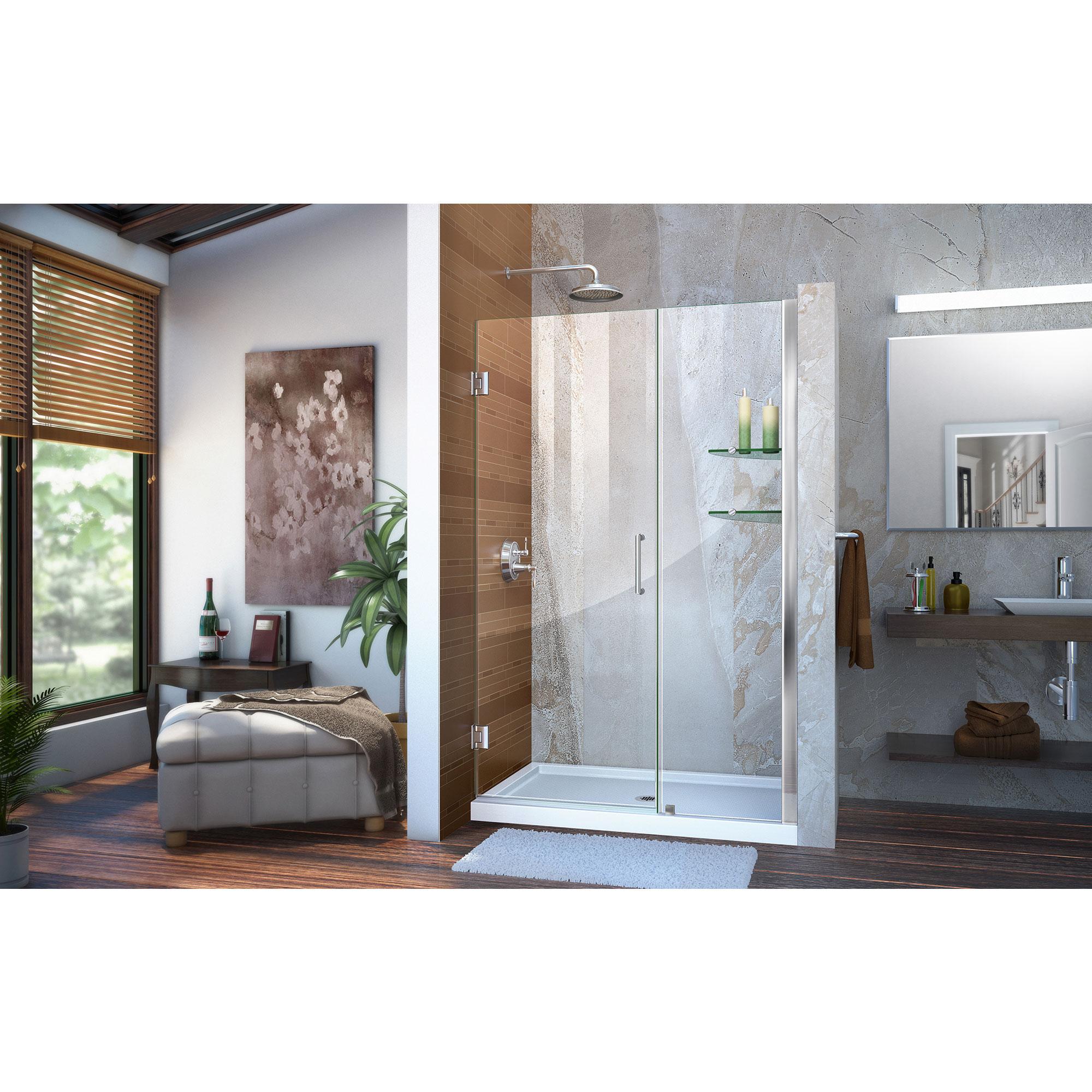 Dreamline Unidoor 45 To 46 Frameless Hinged Shower Door Ebay