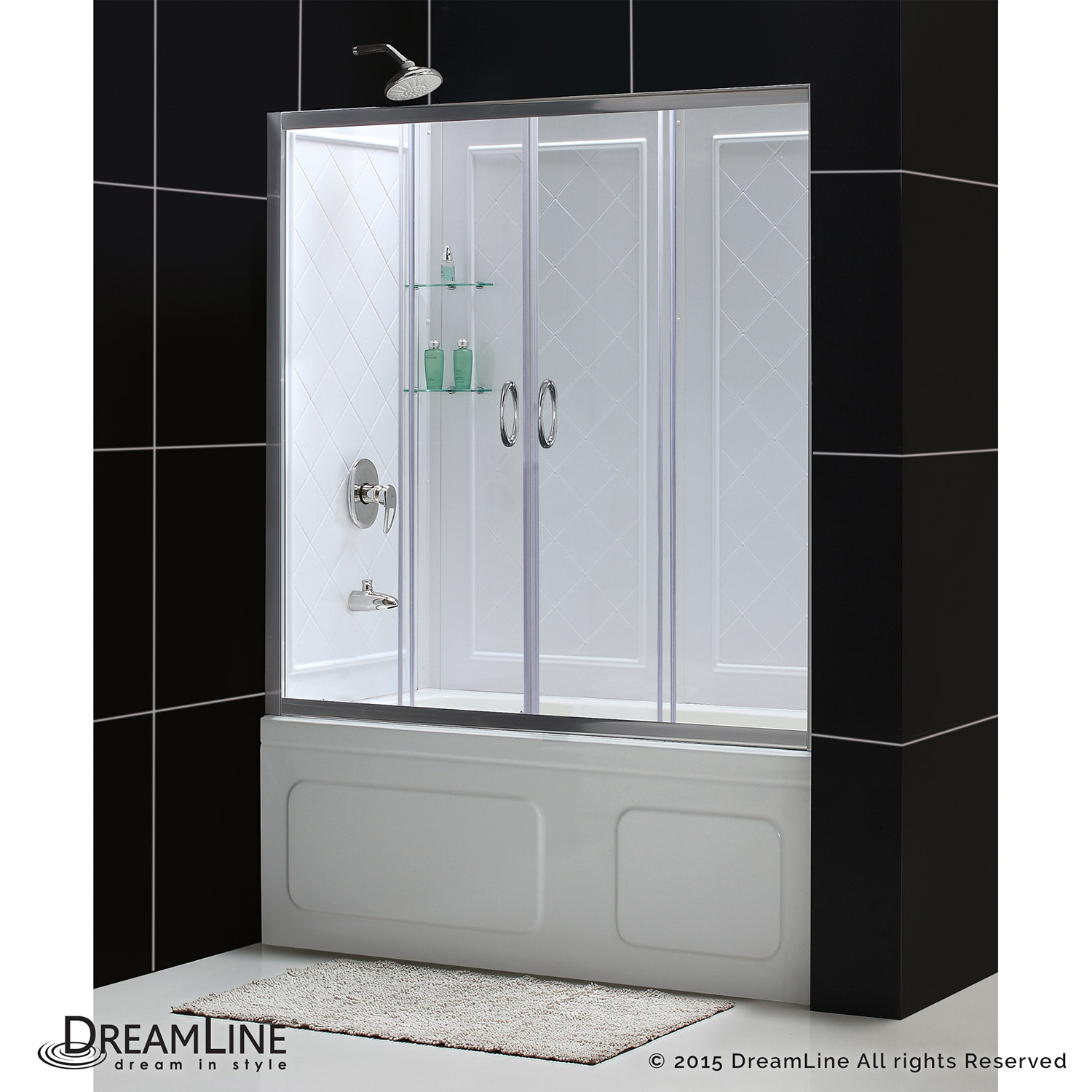Bath4all Dreamline Dl 6995 04cl Visions 56 To 60 Frameless