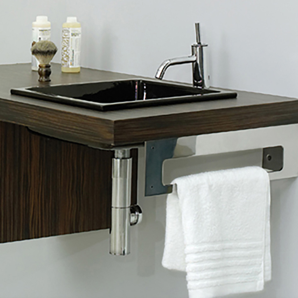 Bath4All - Whitehaus WHKEEPSOPD Aeri Right side Towel Bar with ...