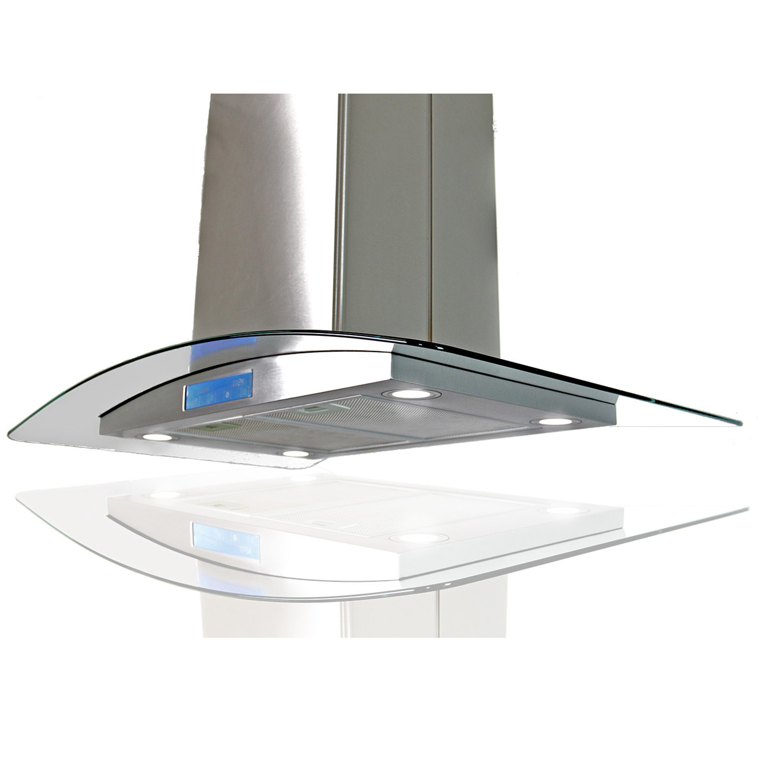 "AKDY AK-668IS2-36 36"" Island Mount Range Hood 870 CFM - AIR68S236 - Image 1"