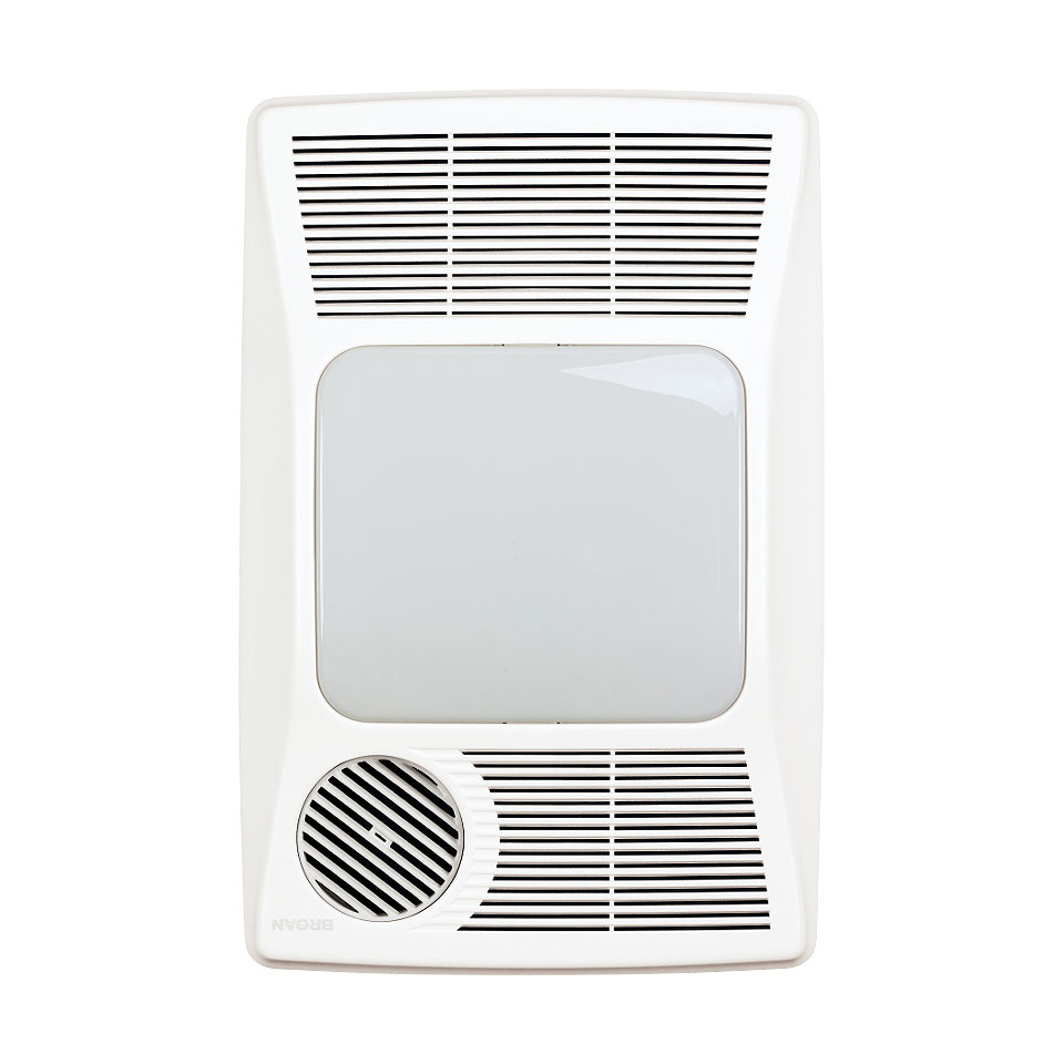 Bath4all broan nutone 100hl white 100 cfm 2 sone ceiling - Ceiling mounted bathroom heaters ...