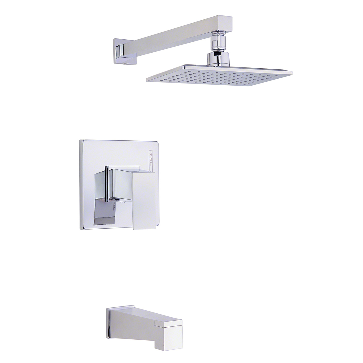 Lovely Danze D500062T Chrome Mid Town Pressure Balanced Tub And Shower Trim With  Rain Shower Head