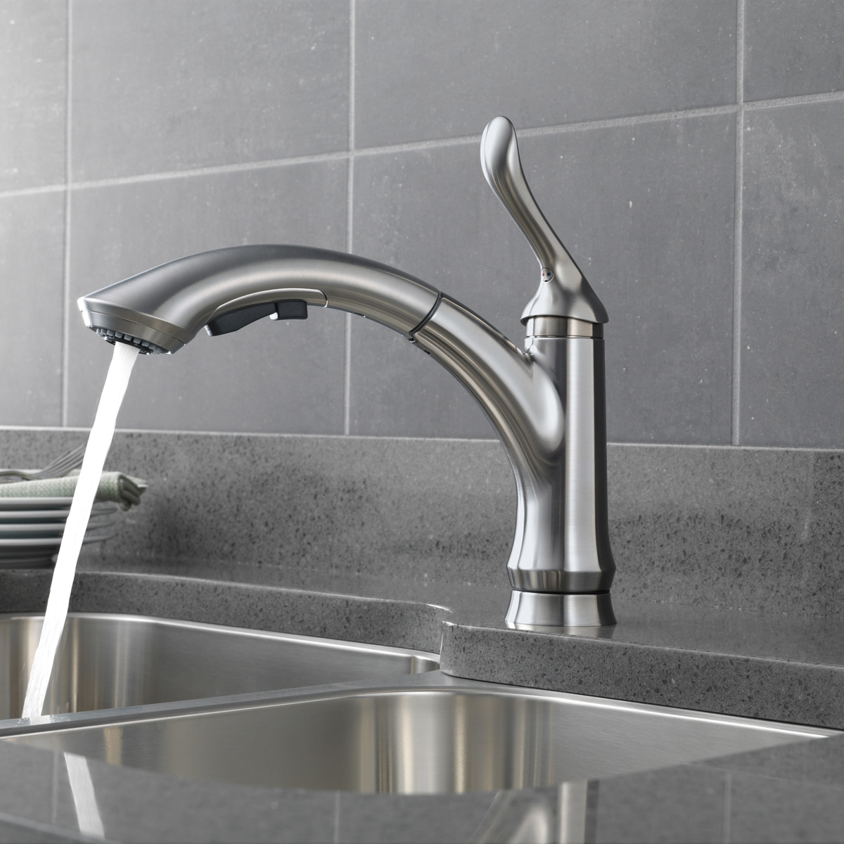 Delta Classic Kitchen Faucet Bath4all Delta 4353 Dst Linden Pull Out Kitchen Faucet With