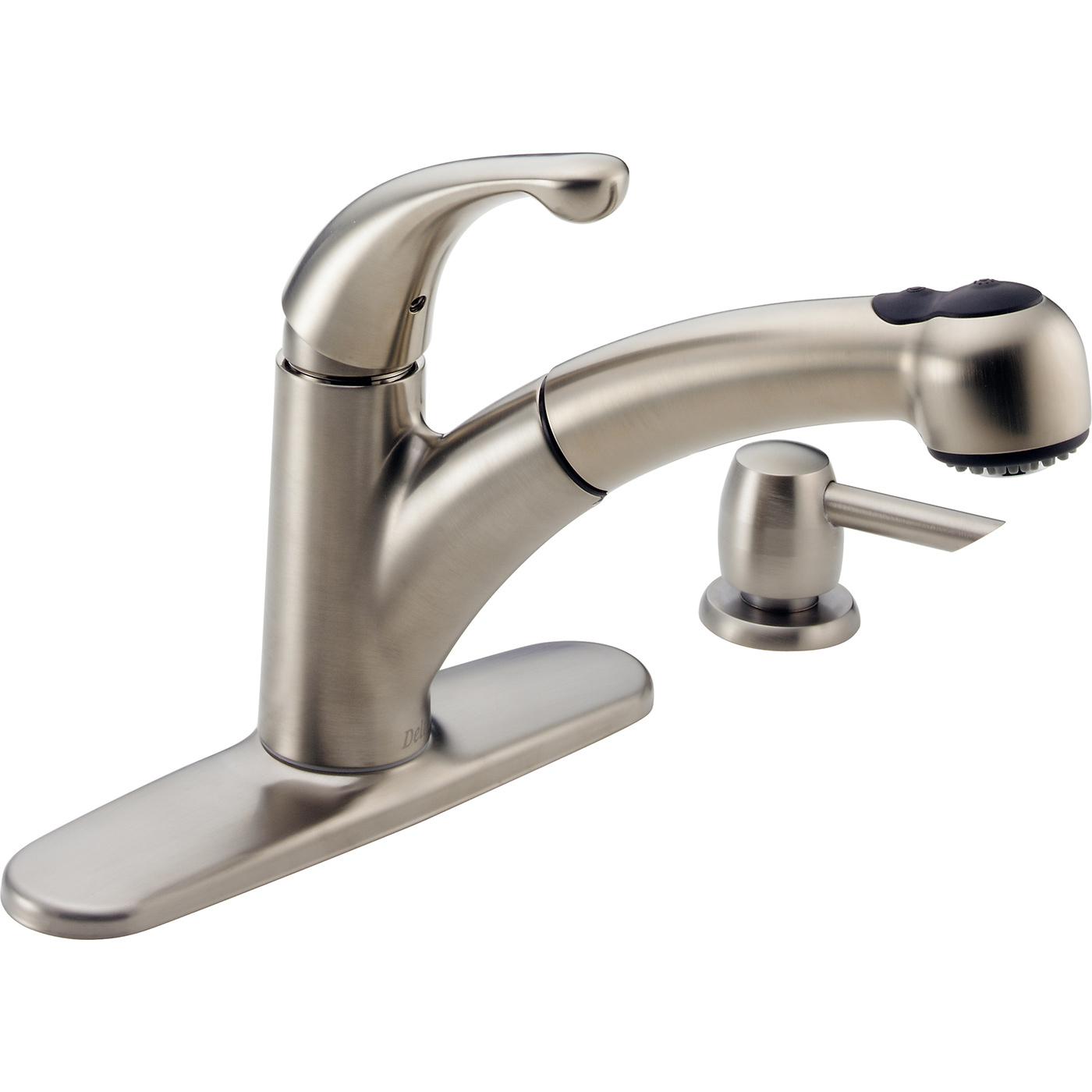 Bath4All - Delta 467-sd-dst Palo Pull-Out Kitchen Faucet with Soap ...
