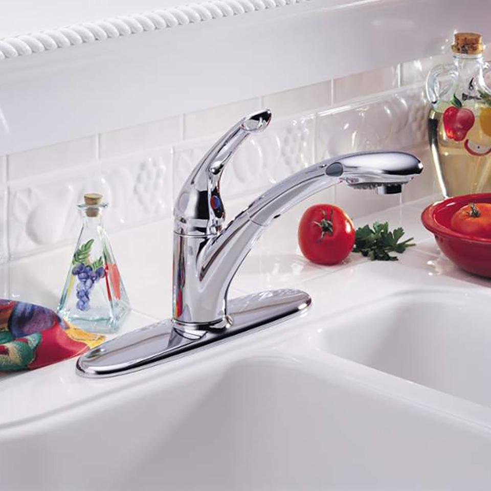 Bath4All - Delta 470-dst Signature Pull-Out Kitchen Faucet with ...