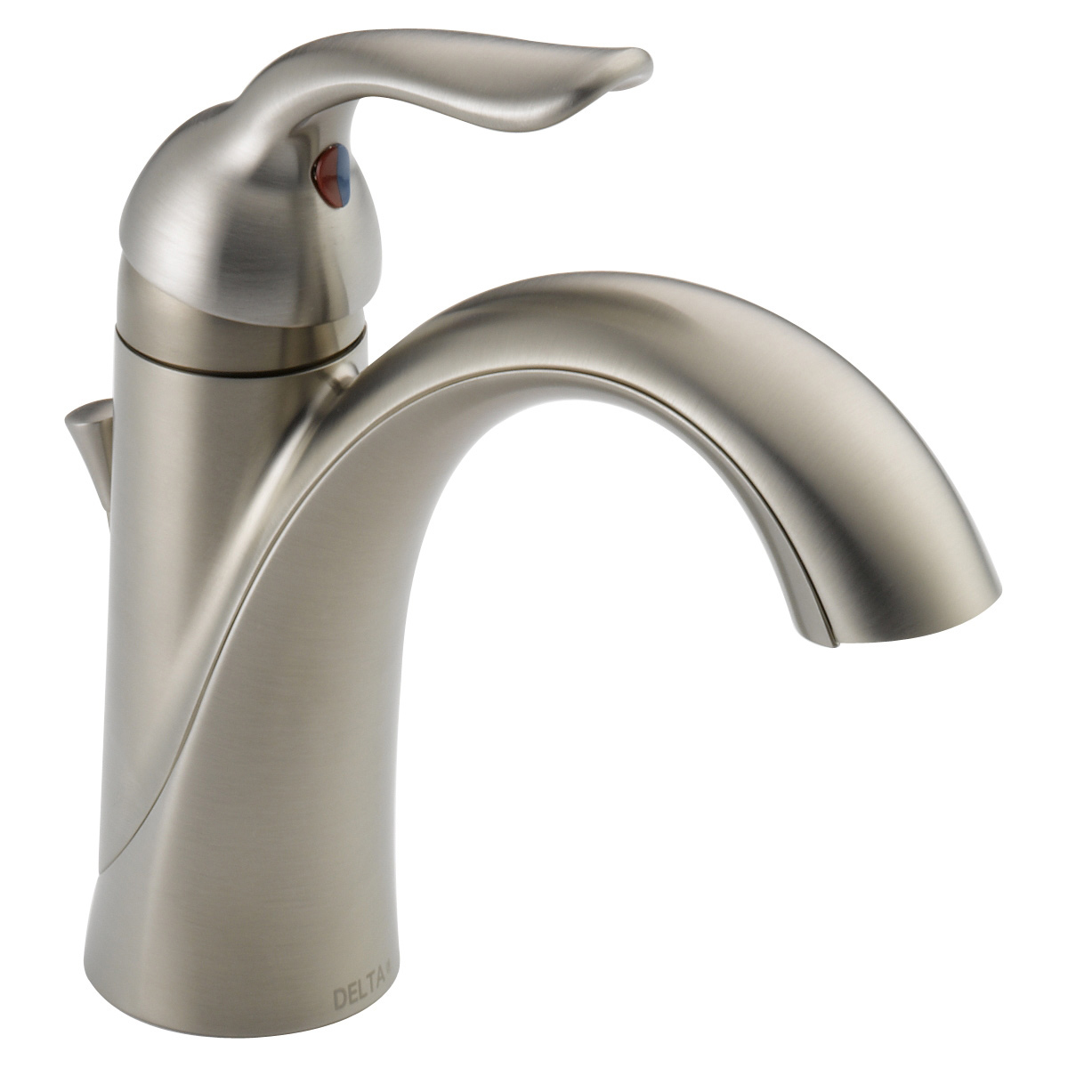 Delta 538 Mpu Dst Lahara Single Hole Bathroom Faucet With Pop Up Drain  Assembly And Optional Base Plate