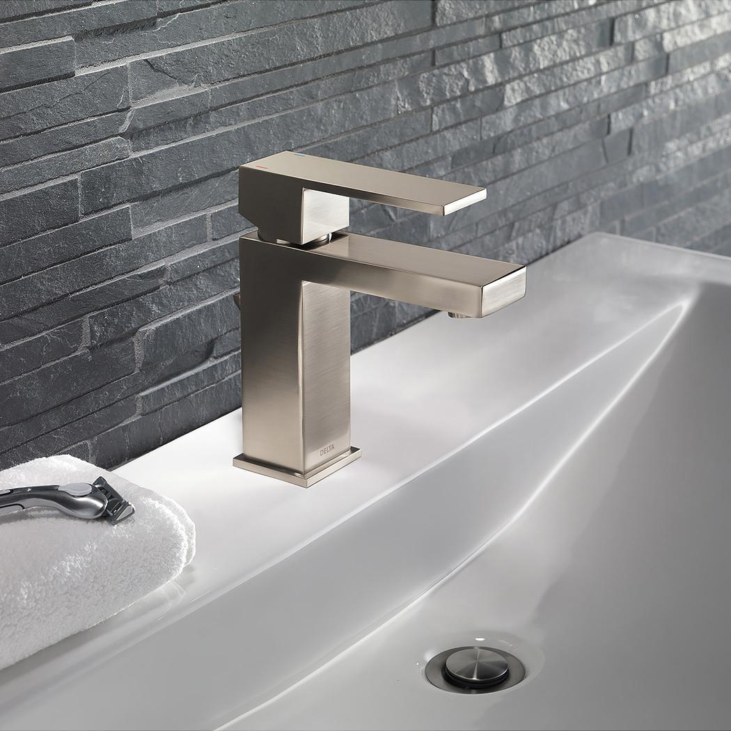 BathAll Delta Lfpp Ara Single Hole Bathroom Faucet With Pop - How to install a bathroom faucet with pop up drain
