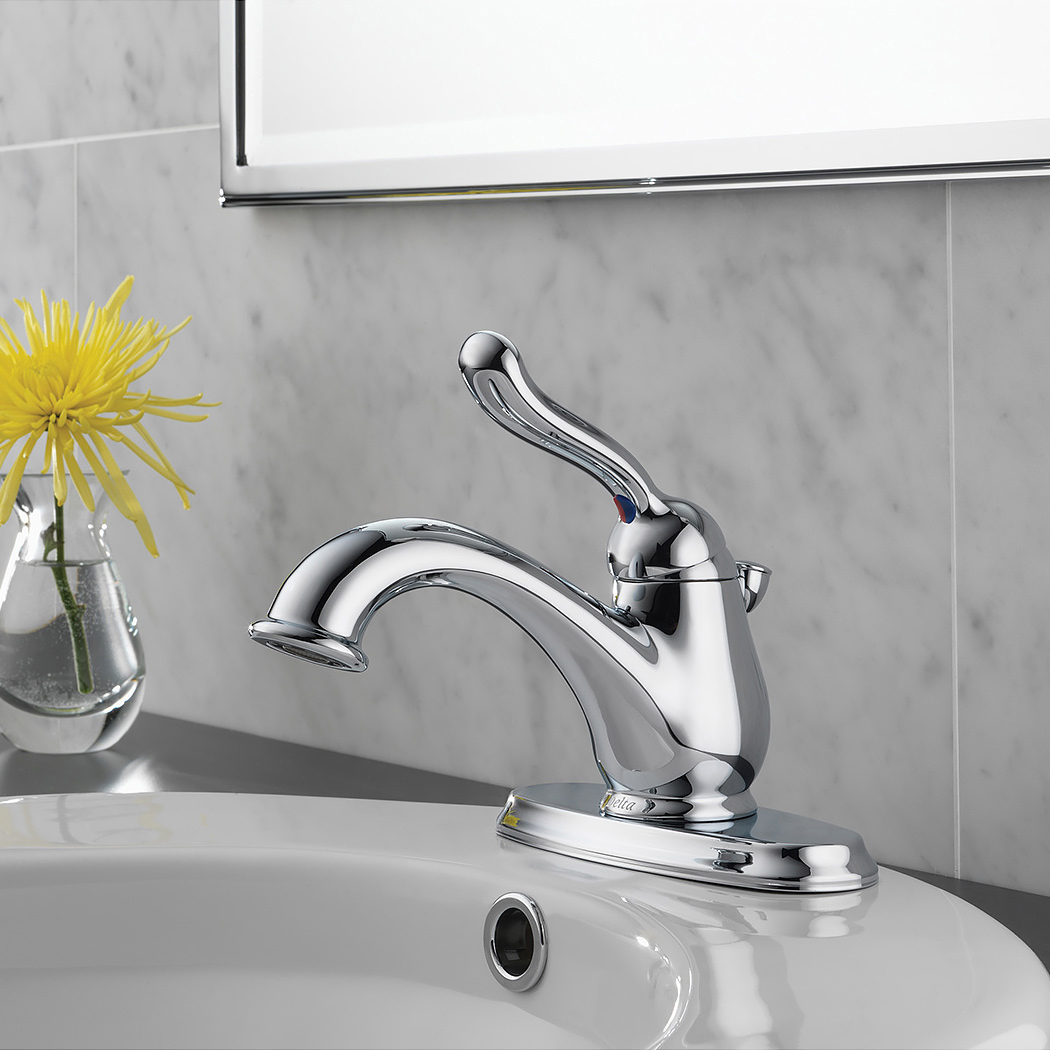 BathAll Delta RBDST Leland Single Hole Bathroom Faucet With - How to install a bathroom faucet with pop up drain