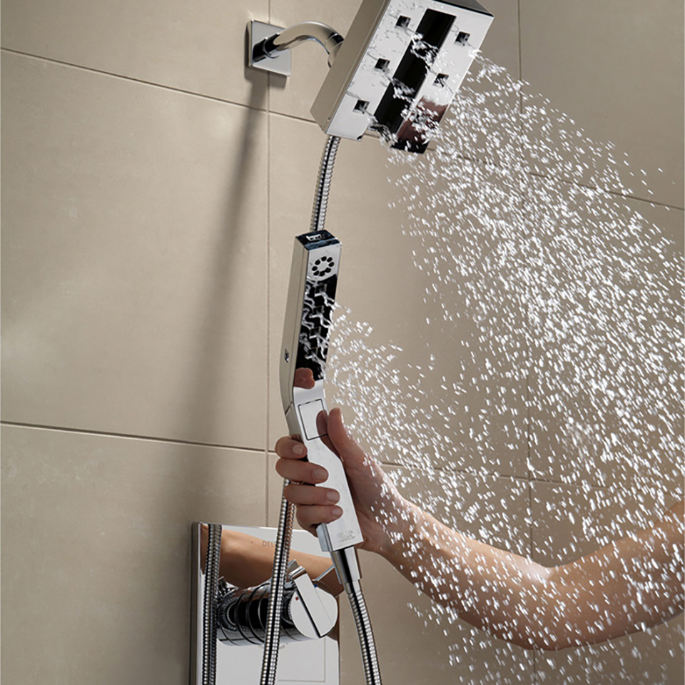 Bath4All - Delta 58470-SS In2ition 2-in-1 H2Okinetic Shower Head ...