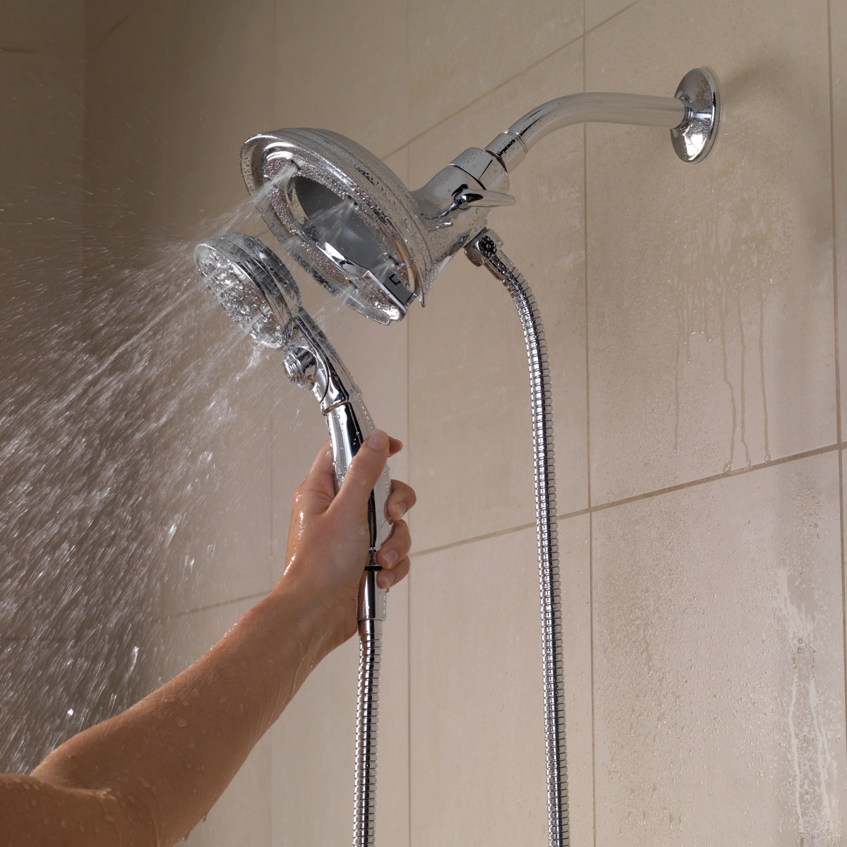 Bath4All - Delta 58471-SS-PK In2ition 2-in-1 H2Okinetic Shower ...
