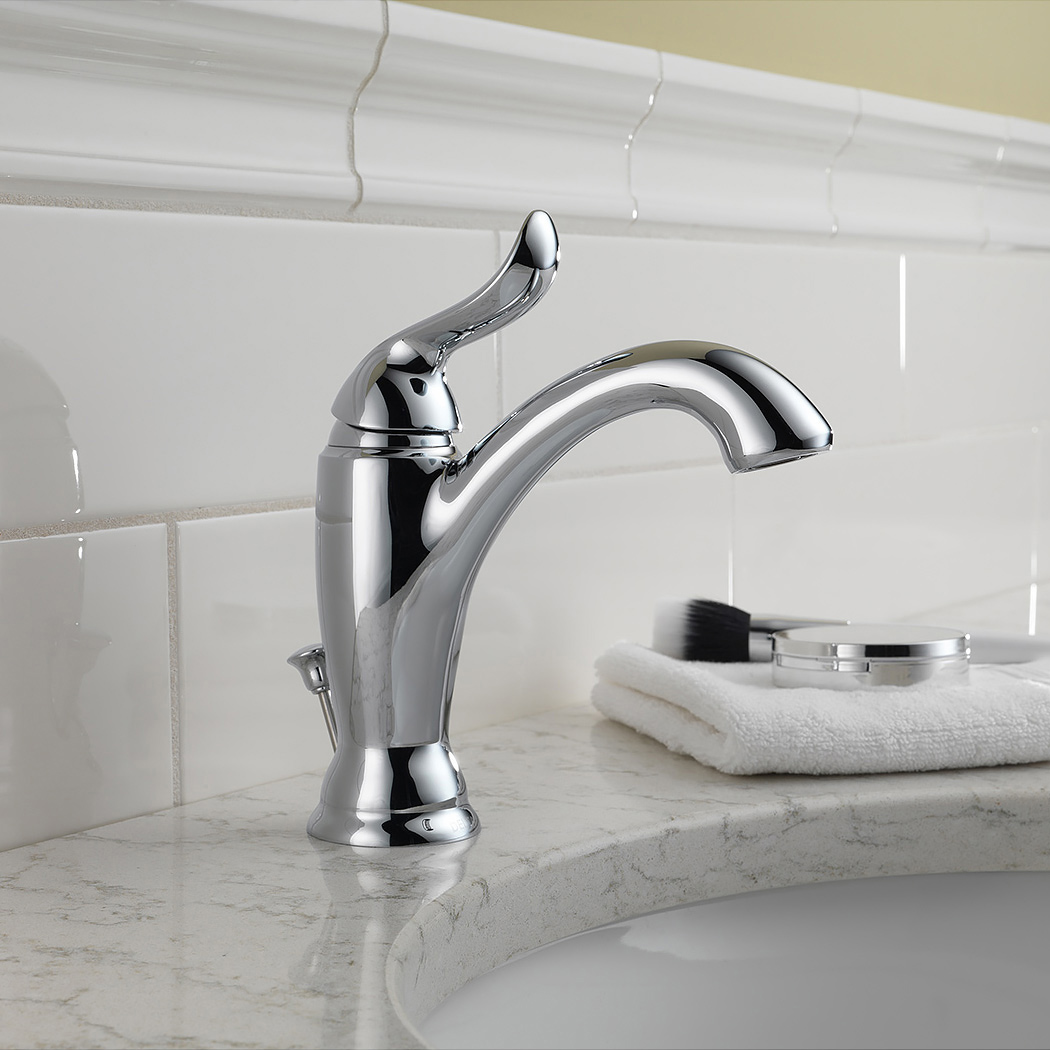 Bath4all delta 594 mpu dst linden single hole bathroom for Most popular bathroom faucets