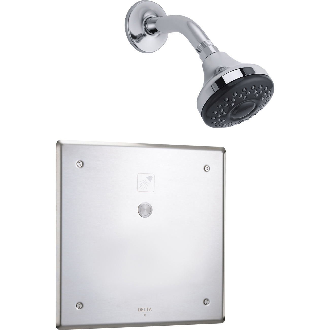 faucet systems ceiling rain shower fixtures chrome showers delta system with