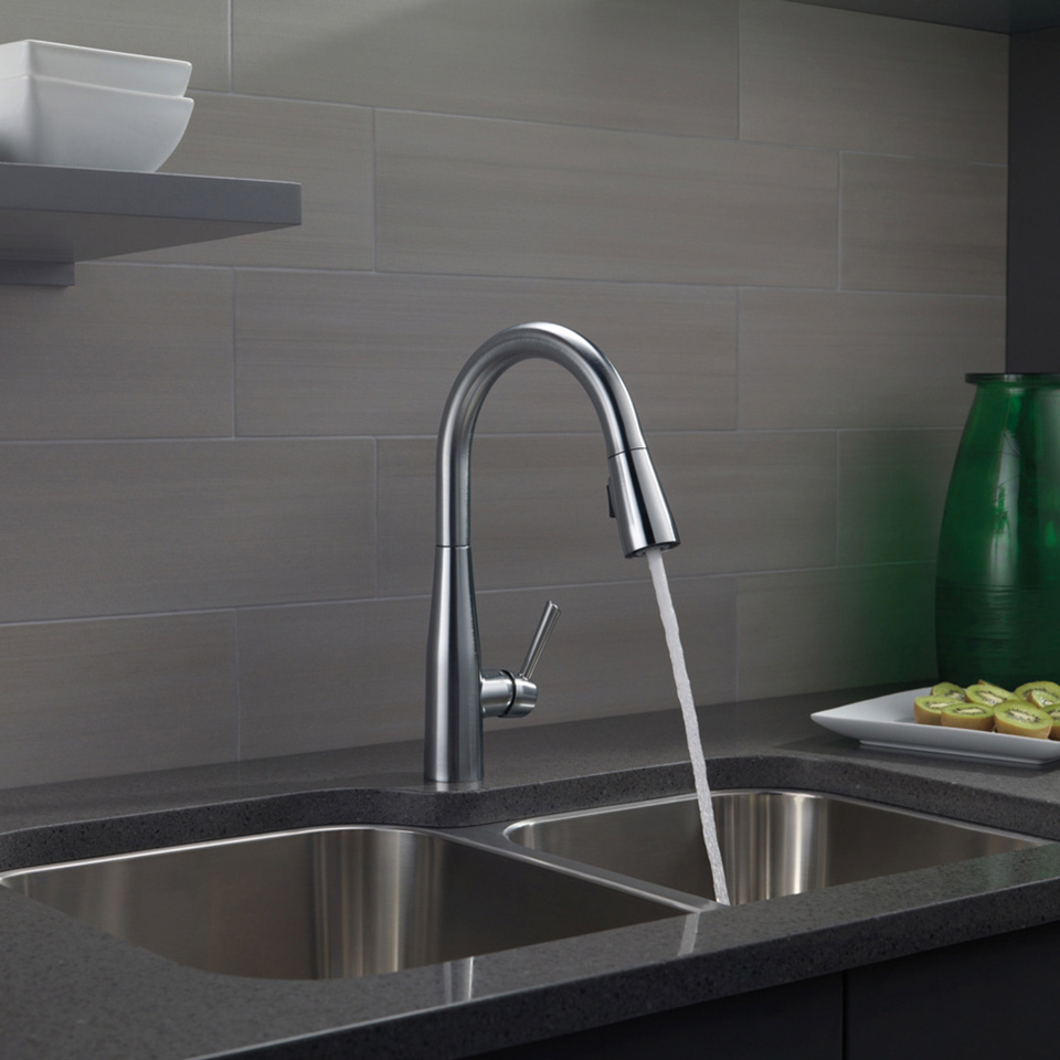 faucet delta kitchen sink bathroom shop cassidy chrome handle pd widespread