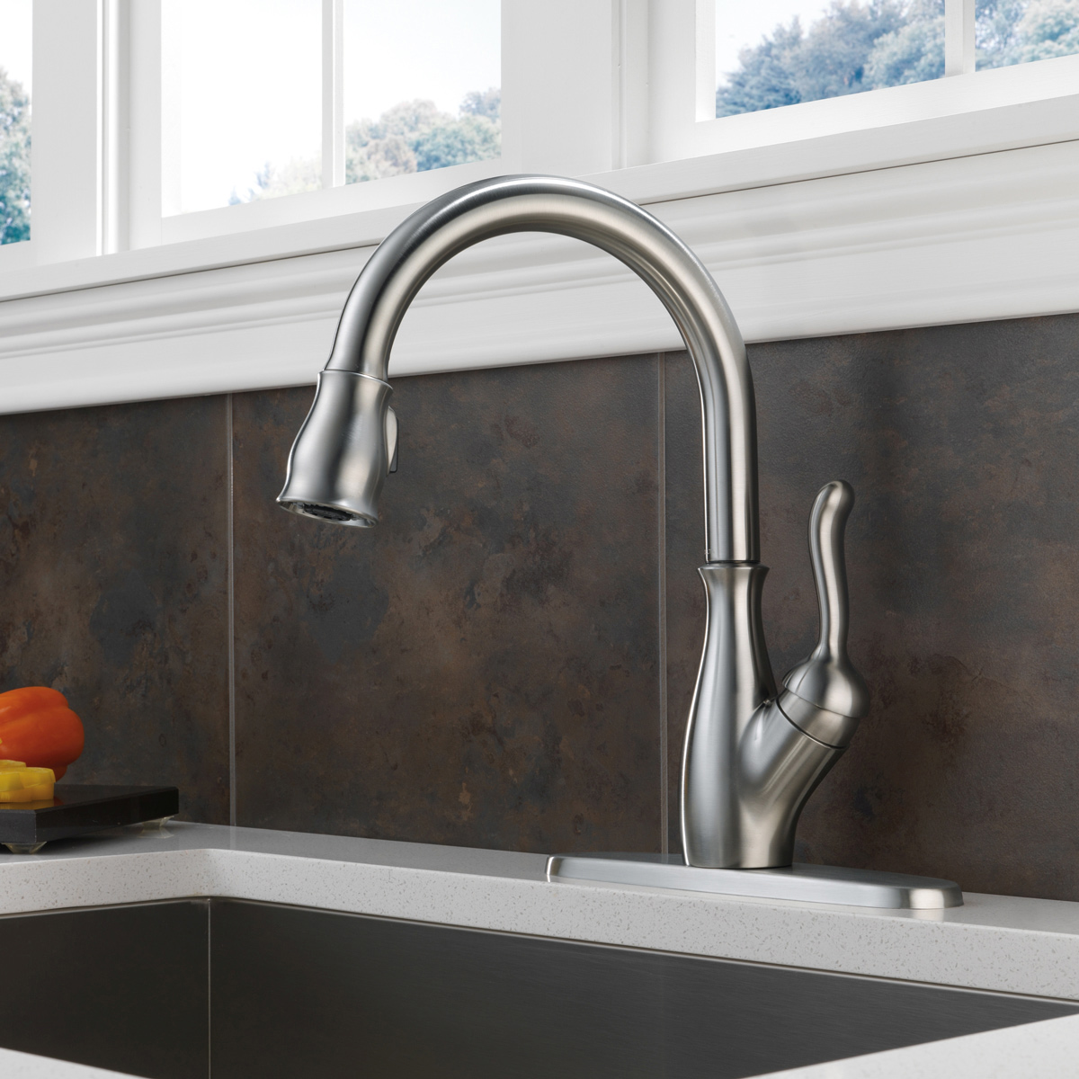 Bath4All - Delta 9178-AR-DST Leland Pull-Down Kitchen Faucet with ...