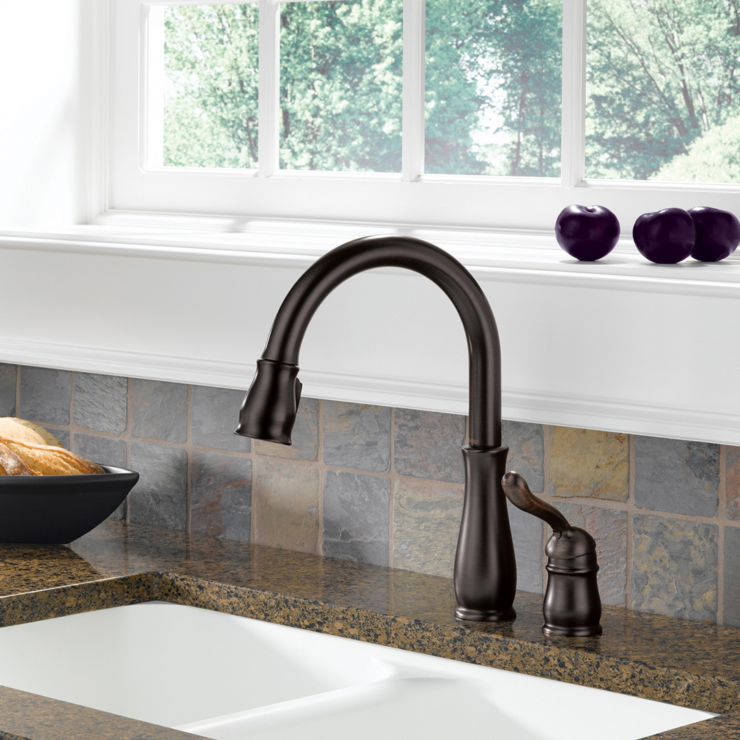 Bath4All - Delta 978-we-dst Leland Pull-Down Kitchen Faucet with ...