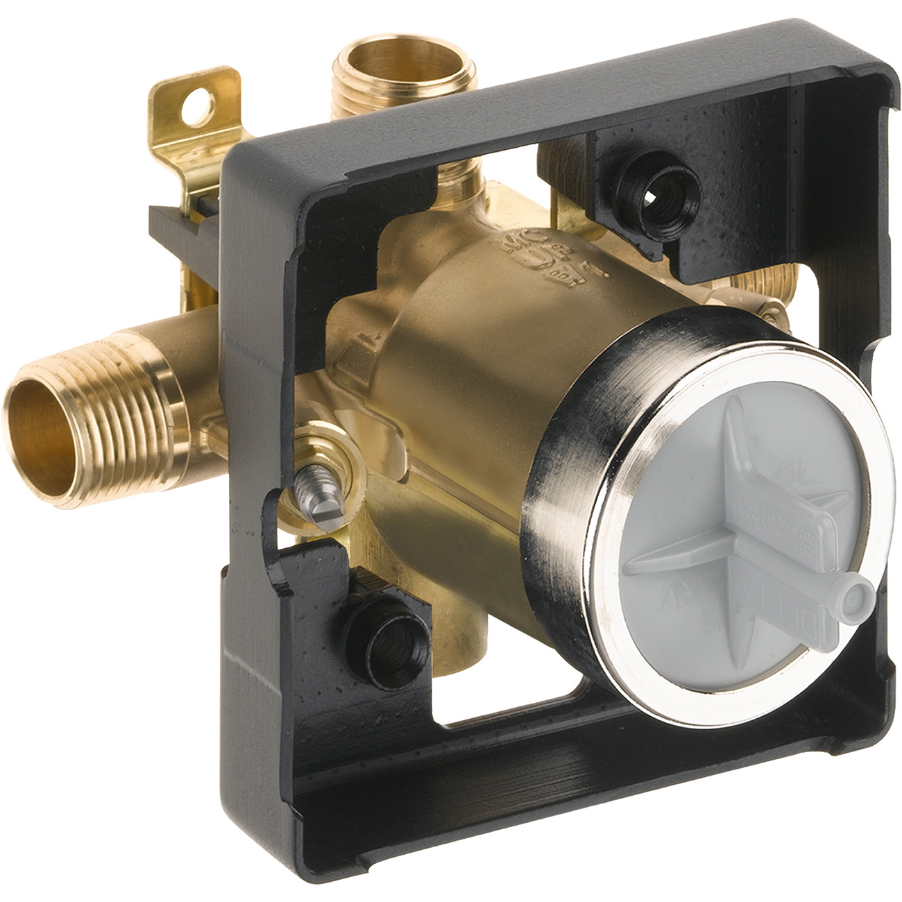 All Copper Universal Water Heater Mixing Valve U Type: Delta R10000-unwshf Universal Mixing Rough-In