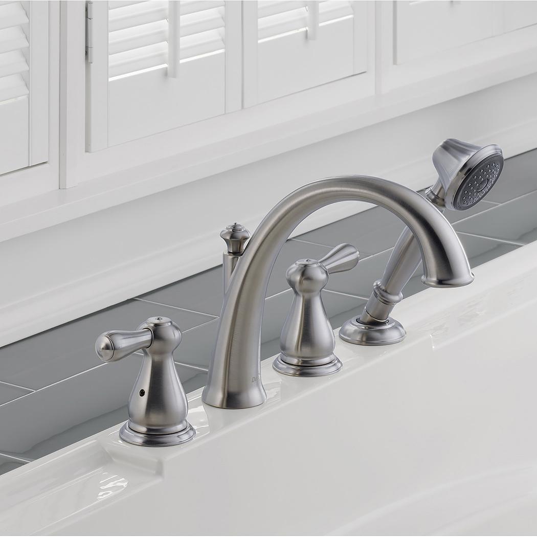 Bath4All - Delta T4775-SS Leland Roman Tub Faucet Trim with Hand Shower
